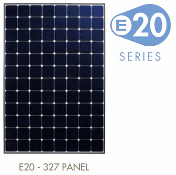 Sunpowers E20 Solar Module - 327 Watt